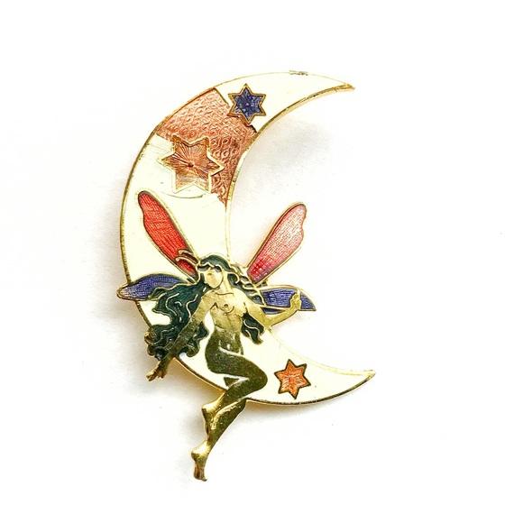 Vintage Accessories - Vintage Fairy Enamel Pin